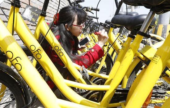 共享单车频遭破坏 90后女生手绘修补车牌(图)