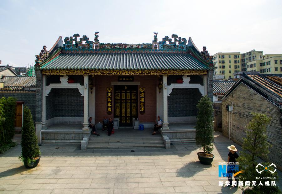 航拍深圳凤凰古村 诉说历史的沧桑