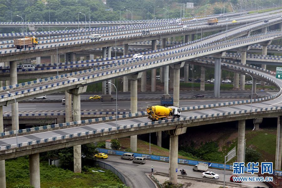 重庆黄桷湾立交桥主体完工 复杂程度火遍全国