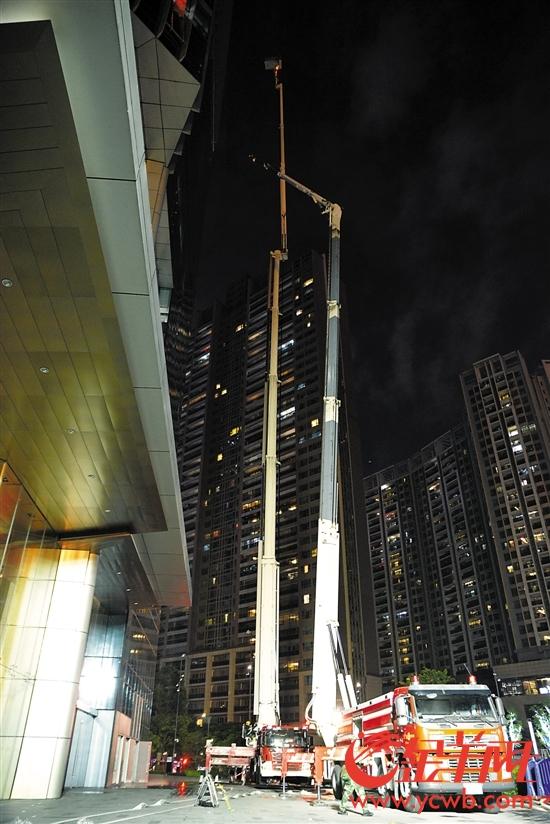 101米云梯只到54层高楼的一半