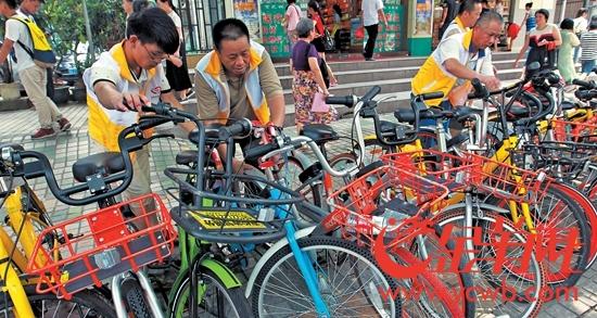 越秀区农林街出新招让共享单车和城市管理和谐共处