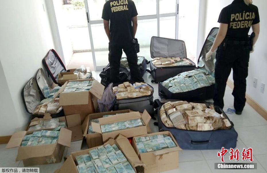 巴西前部长利马因贪腐被捕 家中搜出巨额现金