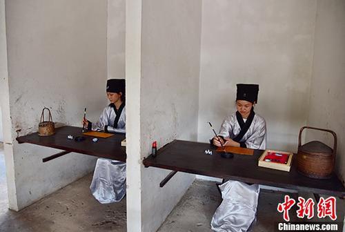广东河源再现古代龙川科举乡试场景