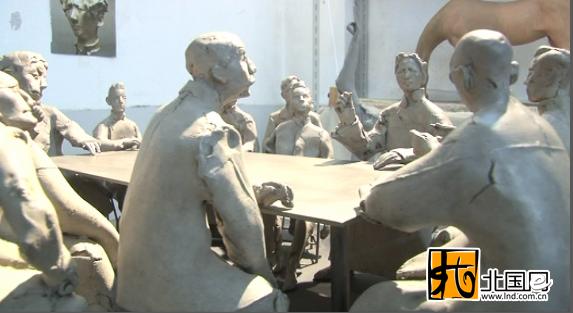 """用雕塑铸造党的""""诞生记"""" 鲁艺精神在沈阳传承"""