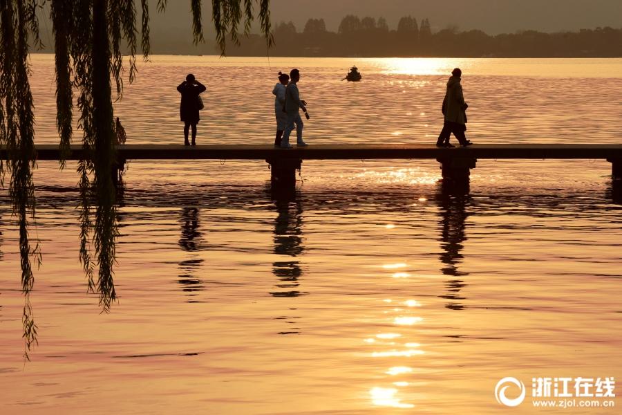 杭州:阳光归来 西湖晴冷