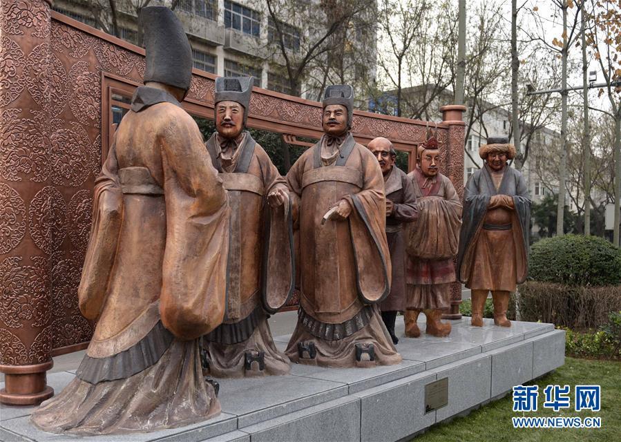 """西安馆藏文物""""变身""""街头雕塑"""