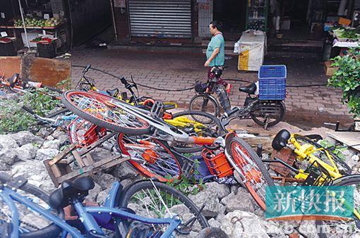 废车堆积成山 新车仍在偷偷投放 共享单车困局怎破?