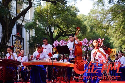 荔湾沙面举办元旦新年音乐会 节拍动感十足震撼观众