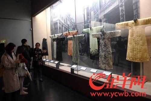 """一場""""香港長衫""""秀在粵開演 205件套藏品述説百年故事"""