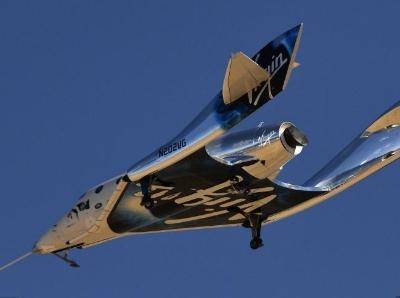 维珍银河太空船第二次试飞成功 距太空梦更近一步