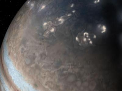"""""""朱诺号""""发现木星闪电与地球闪电相似"""