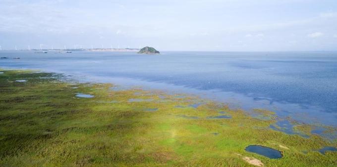 江西九江持续降雨 鄱阳湖水位快速上涨