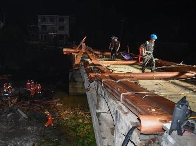 浙江桐庐廊桥倒塌死亡人数上升至8人