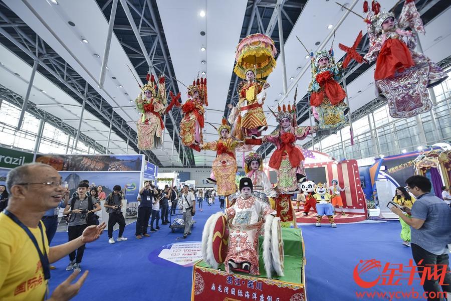 2018年9月7日,2018广东旅游博览会在琶洲展馆举行。金羊网记者 宋金峪 摄 图为广东吴川飘色