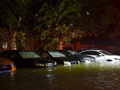 江湾桥底至仲恺农业技术学院一带水浸严重