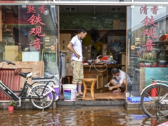 台风山竹走一遭,芳村茶市损失严重