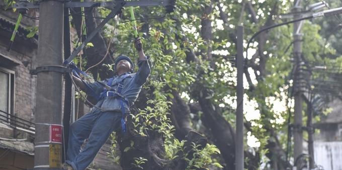 让居民尽快复电 广州供电局800余人抢修电力