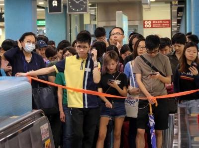 香港港鐵信號故障 九龍塘站實施人流管制