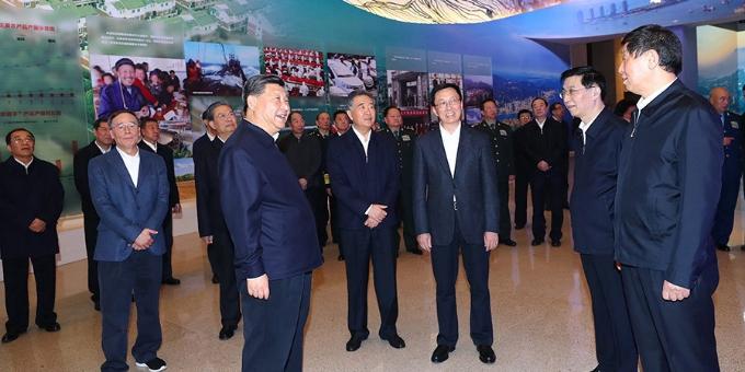 """习近平等党和国家领导人参观""""伟大的变革——庆祝改革开放40周年 大型展览"""""""