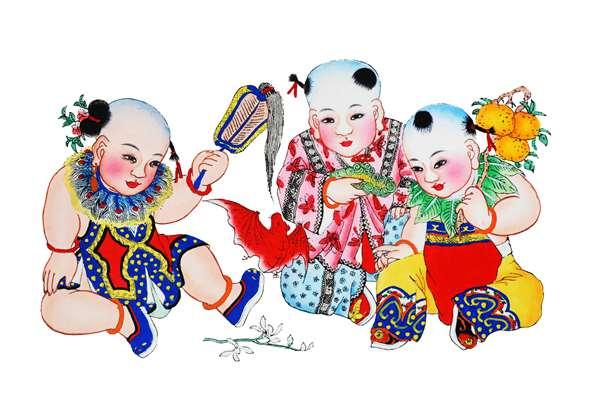 """据悉,高剑父纪念馆将在2019春节期间,举办中国传统四大年画之一""""杨柳"""