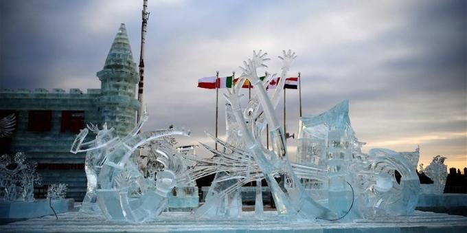 哈尔滨国际组合冰雕比赛落幕