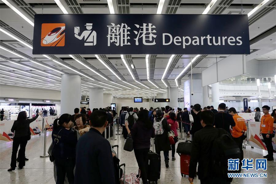 香港高铁加入春运第一天