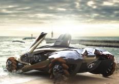 新款兩棲概念車設計圖亮相 外型科幻炫酷