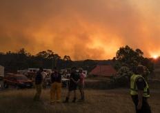 澳大利亞因閃電引發森林火災 濃煙滾滾遮天蔽日