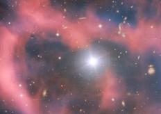 欧洲南方天文台公布一遥远星云照片 中央恒星清晰可见