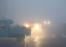 江蘇連雲港迎來大霧天氣