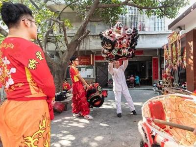 """【新春走基层】探寻佛山独有的""""三星狮""""舞狮文化"""