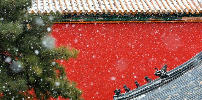 收藏好!北京又下雪啦 一波雪景大片上线