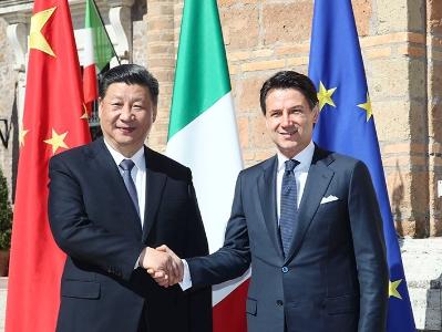 習近平同義大利總理孔特舉行會談