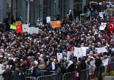 紐約民眾集會抗議新西蘭清真寺槍擊案 反對仇視伊斯蘭教