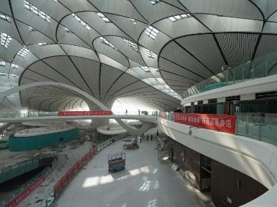 实拍北京大兴国际机场室内室外