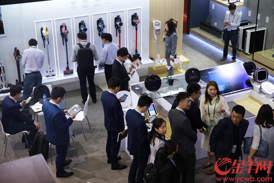 2019年4月15日,第125屆中國進出口商品交易會在琶洲會展中心開幕 金羊網記者 宋金峪 攝