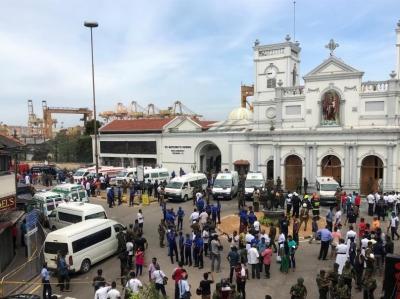 斯裏蘭卡爆炸案中2名中國人遇難 救援工作持續進行中
