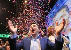 演员泽连斯基赢得乌克兰总统选举