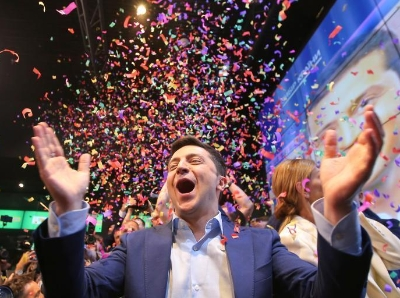 演員澤連斯基贏得烏克蘭總統選舉