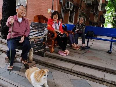 廣州街坊簡單的午休