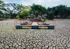 哥斯達黎加聖何塞大旱 公園湖泊幹涸幹涸