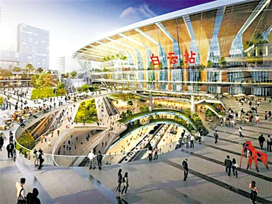 赣深高铁规划线路图_广州新建的白云站周边 或不止6条地铁线