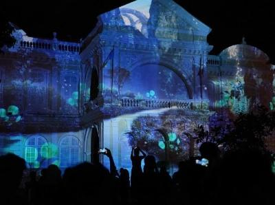 马来西亚乔治市艺术节上演灯光秀