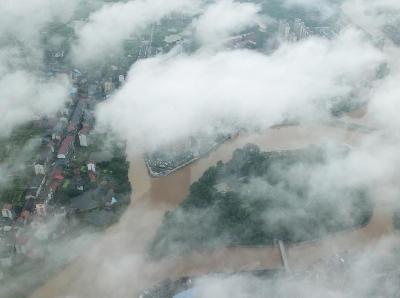 湖南衡陽現雨後雲海景觀