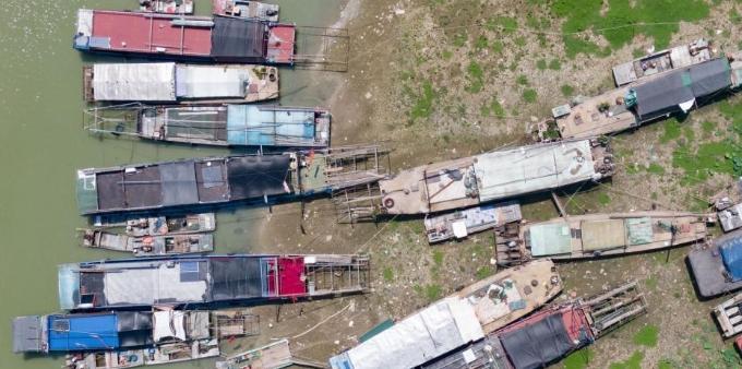 中国第四大淡水湖洪泽湖遭遇持续旱情