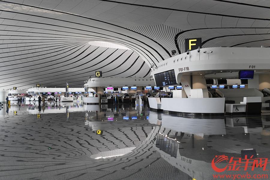 2019年9月4日,北京大兴机场航站楼出发大厅 金羊网记者 林桂炎 摄