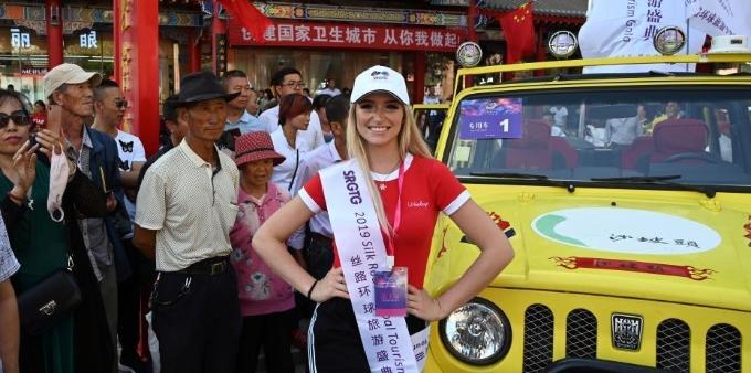 2019丝路环球旅游小姐世界总决赛选手进行赛前排练
