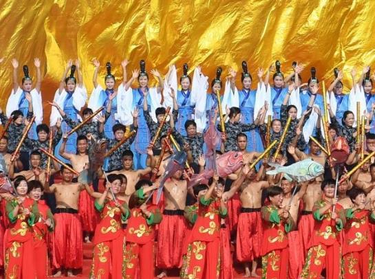 浙江宁波举行开渔祭海仪式 再现渔家古老典礼