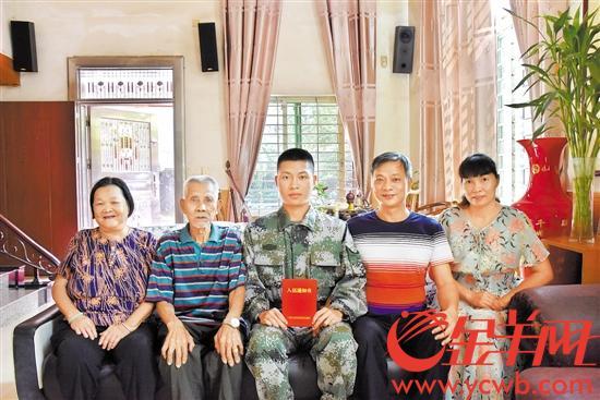 <b>【中国梦·践行者】东莞祖孙三代5人当兵 他为参军准备3年终圆梦</b>