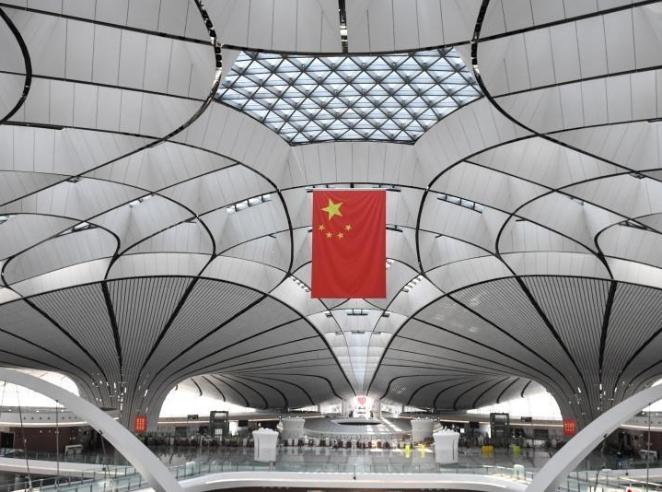中外媒体探访北京大兴机场
